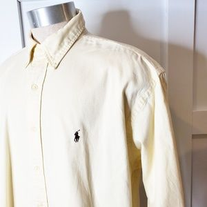 Ralph Lauren Cream Oxford Button Down Shirt XL